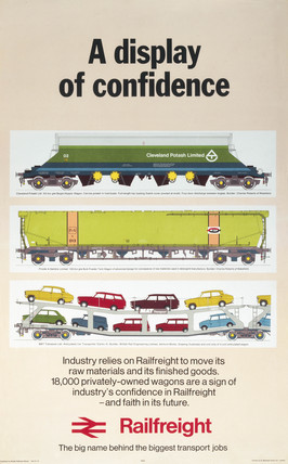 'A Display of Confidence - Railfreight', BR poster, 1974.