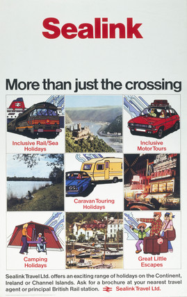 'Sealink, More Than Just The Crosing', BR poster, 1975.