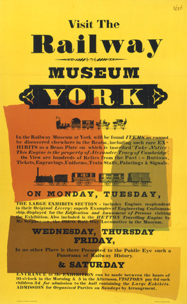 'Visit the Railway Museum, York', BR poster, 1960.