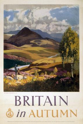 'Britain in Autumn', poster, c 1950s.