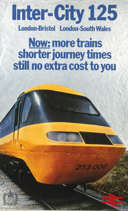 'Inter-City 125', BR poster, 1977.