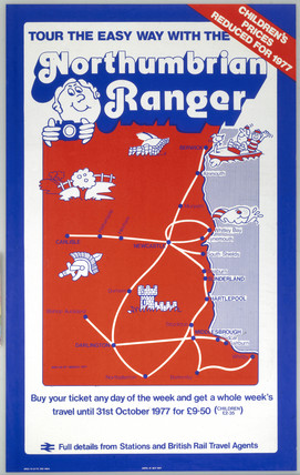 Simple map of Northumbrian train services,