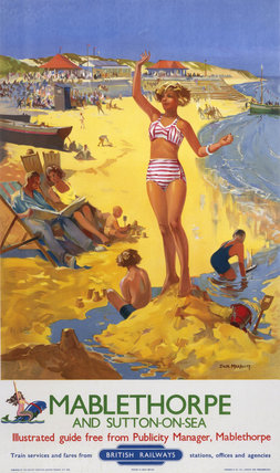 'Mablethorpe and Sutton-on-sea', BR poster, c 1950s.