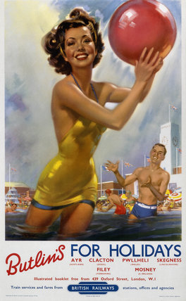 Butlin's for Holidays', BR poster, c 1960.