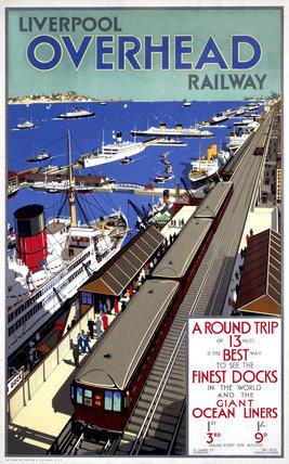 Liverpool Overhead Railway poster, 1923-1950.