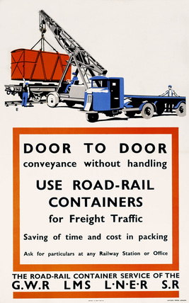 'Door to Door Conveyance without Handling', poster, 1923-1947.