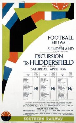 'Football - Millwall v Sunderland', SR poster, 1937.