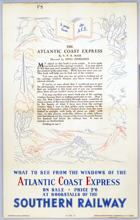 A Page from the ACE - The Atlantic Coast Express', SR poster, 1923-1947.
