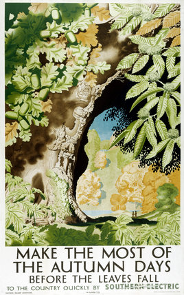 'Make the Most of the Autumn Days', SR poster, 1939.