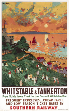 'Whitstable and Tankerton', SR poster, 1936.