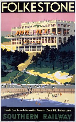 'Folkestone', SR poster, 1947.