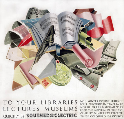 'To your Libraries, Lectures, Museums', SR poster, 1930s.