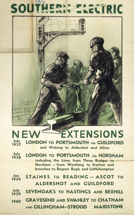 'Southern Electric - New Extensions', c 1930s.