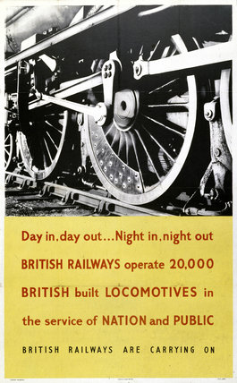 'Day in, Day out...', BR poster, 1948-1965.