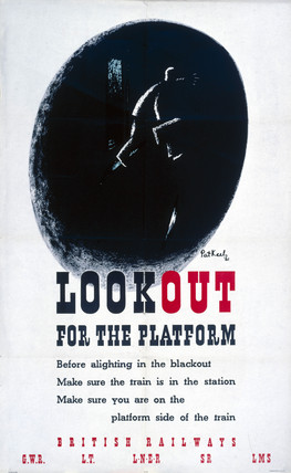 'Look Out', GWR/LNER/LMS/SR/LT poster, 1941.