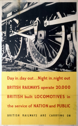 'Day in, Day out .. Night in, Night Out', BR poster, c 1940s.