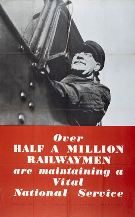 Railway Executive Committee poster, 1939-1945.