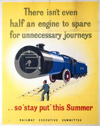 'There isn't even half an engine to spare...', poster, 1939-1945.