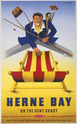 'Herne Bay,' BR poster, c 1950s.