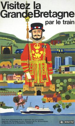 'Visitez la Grande Bretagne par le Train', BR poster, 1966.