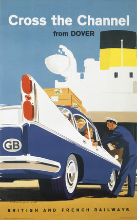 'Cross the Channel from Dover', BR poster, c 1960s.