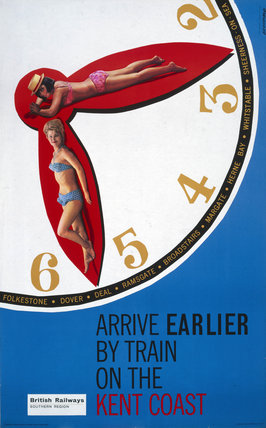 'Arrive Earlier by Train', BR poster, 1963.