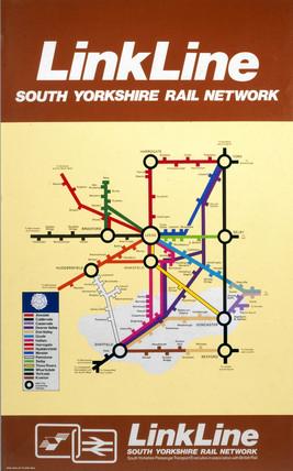 'Linkline - South Yorkshire Rail Network', BR (E) poster, 1977.