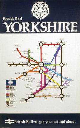 'British Rail - Yorkshire', BR (E) poster, 1977.