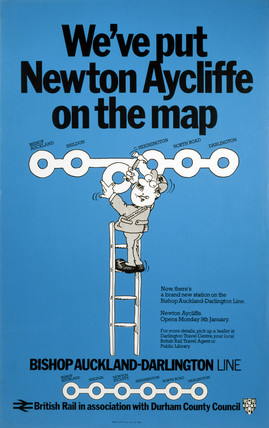'We've put Newton Aycliffe on the Map', poster, 1977.