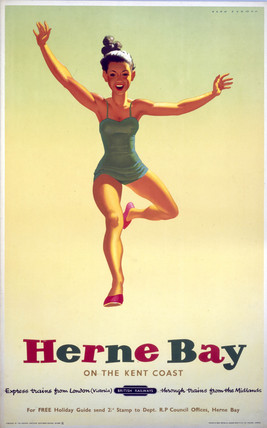 'Herne Bay on the Kent Coast', BR (SR) poster, 1952.