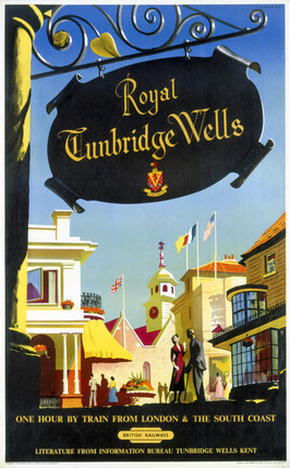 'Royal Tunbridge Wells', BR poster, 1957.