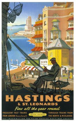 'Hastings & St Leonards', BR poster, 1952.
