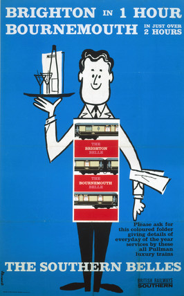 'Brighton in 1 Hour', BR (SR) poster, 1963.