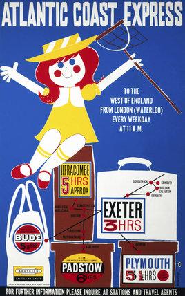 'Atlantic Coast Expres', BR (SR) poster, 1960.
