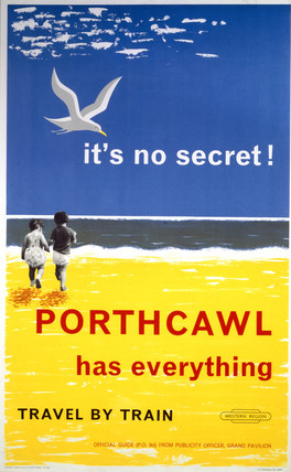 'Porthcawl has Everything', BR poster, 1962.
