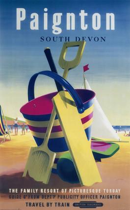 'Paignton', BR poster, 1955.