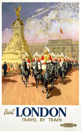 'Visit London', BR poster, 1950s.