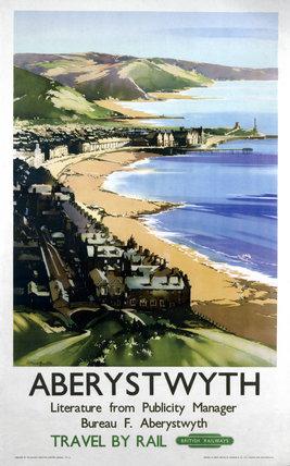 'Aberystwyth', BR poster, 1949.