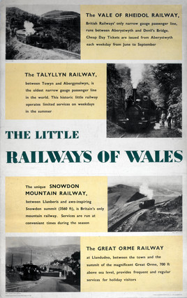 'The Little Railways of Wales', BR poster, 1955.