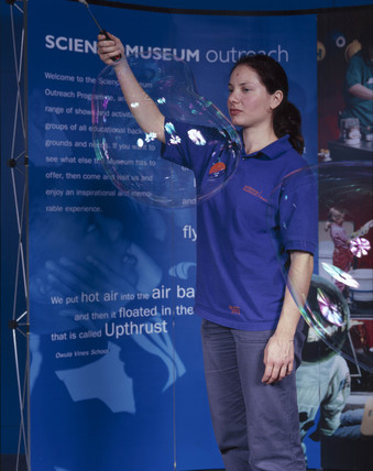 'Bubble Show', Science Museum, London, October 2000.
