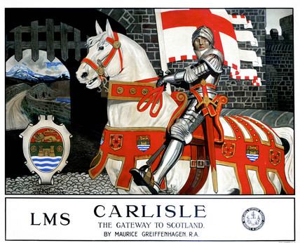 'Carlisle, the Gateway to Scotland', LMS poster, 1924.