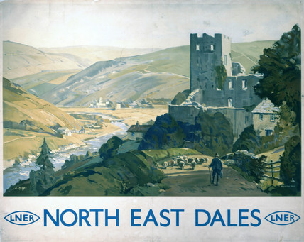 'North East Dales', LNER poster, c 1930s.