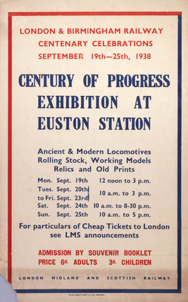 'Century of Progres Exhibition', LMS poster, 1938.