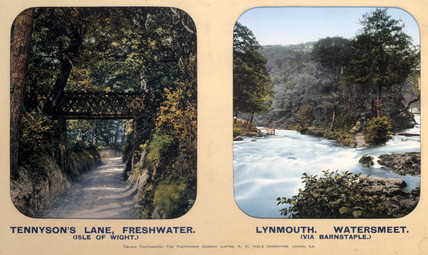 Tennyson's Lane, Isle of Wight and Lynmouth, Devon, 1910s.
