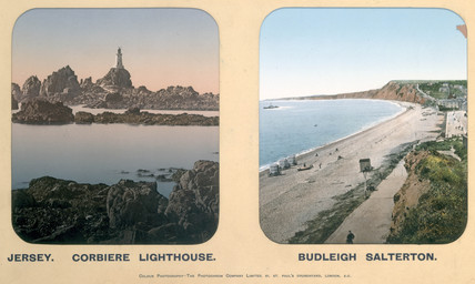 Corbiere Lighthouse, Jersey, and Budleigh Salterton, Devon, 1910s.