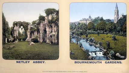 Netley Abbey, Hampshire and Bournemouth Gardens, Dorset, 1910s.
