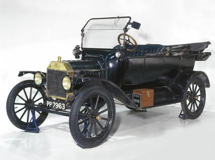 Ford Model T four-seat tourer motor car, 1916.