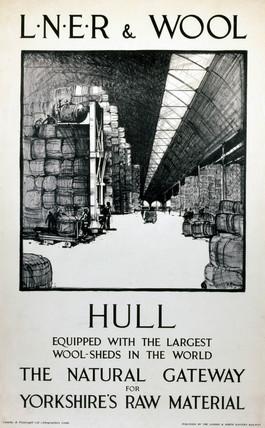 'LNER & Wool, Hull', LNER poster, c 1930s.