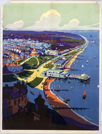Southern coastal resort, SR poster, c 1938.