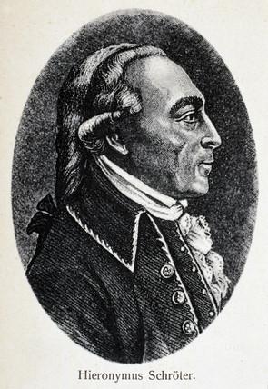 Johann Hieronymus Schroter, German astronomer, c 1800.